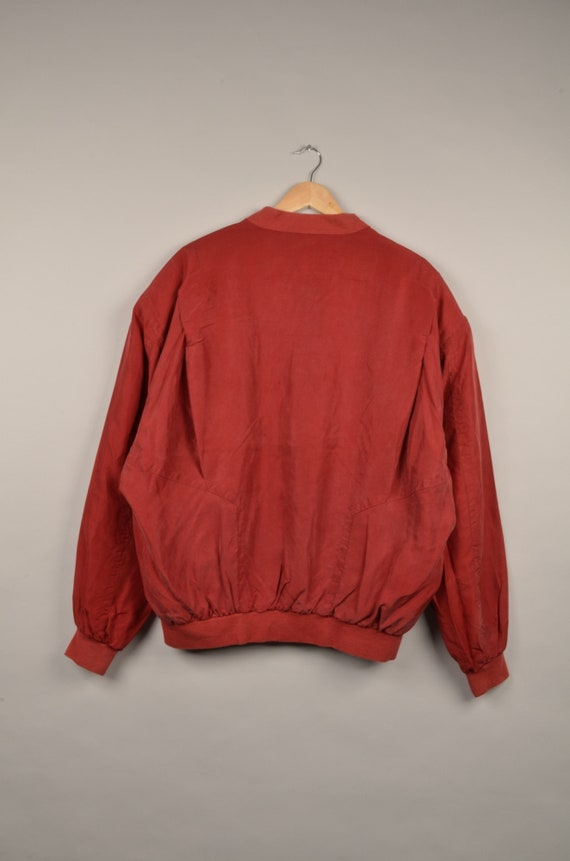 vintage silk bomber jacket, bomber jacket, silk b… - image 2