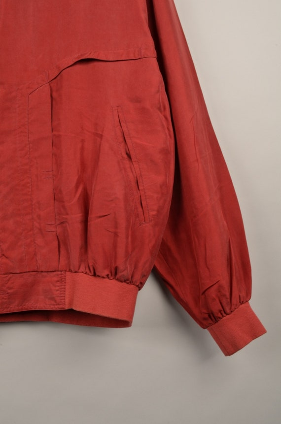vintage silk bomber jacket, bomber jacket, silk b… - image 4