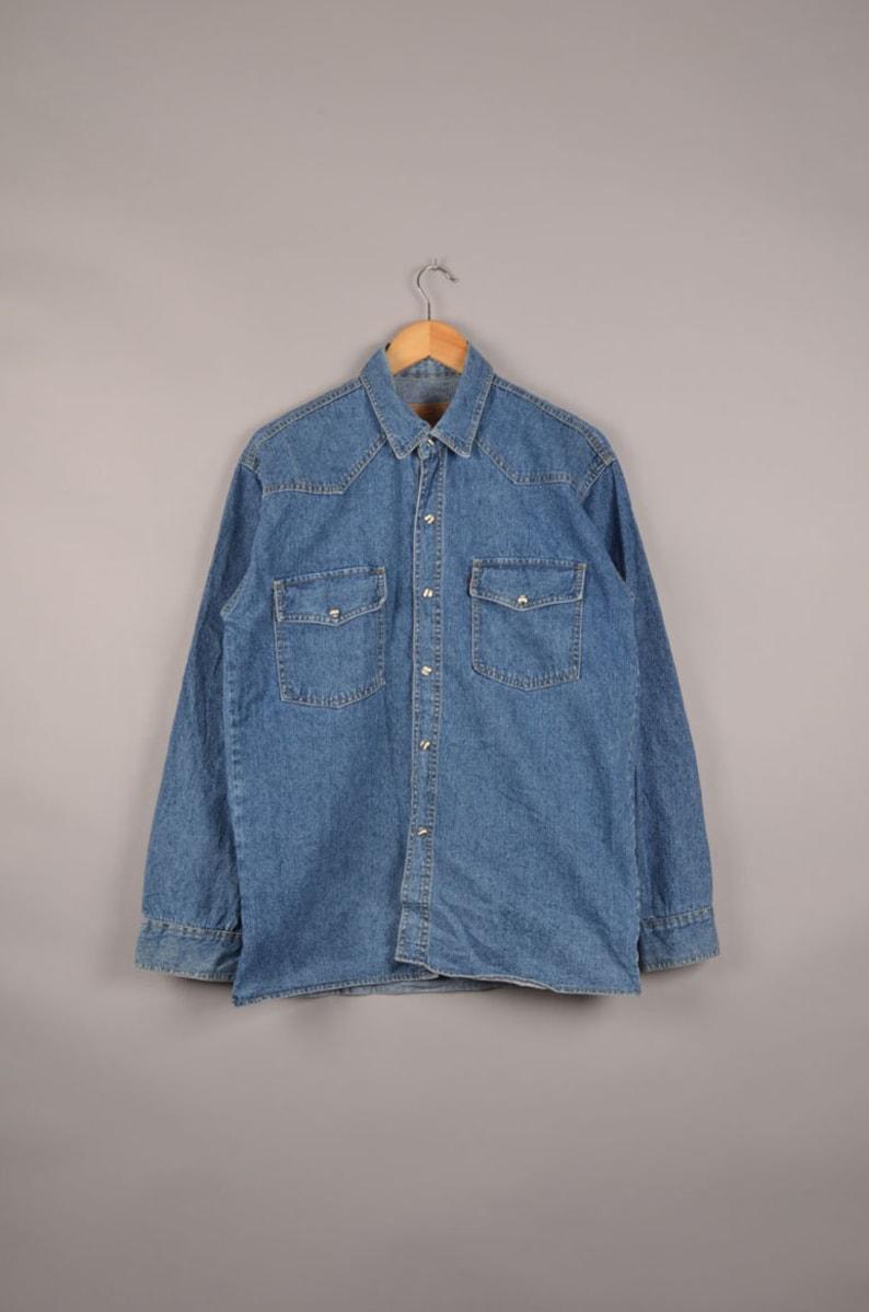 8386f06d4e8 Vintage levi s dark blue denim shirt levi s blouse