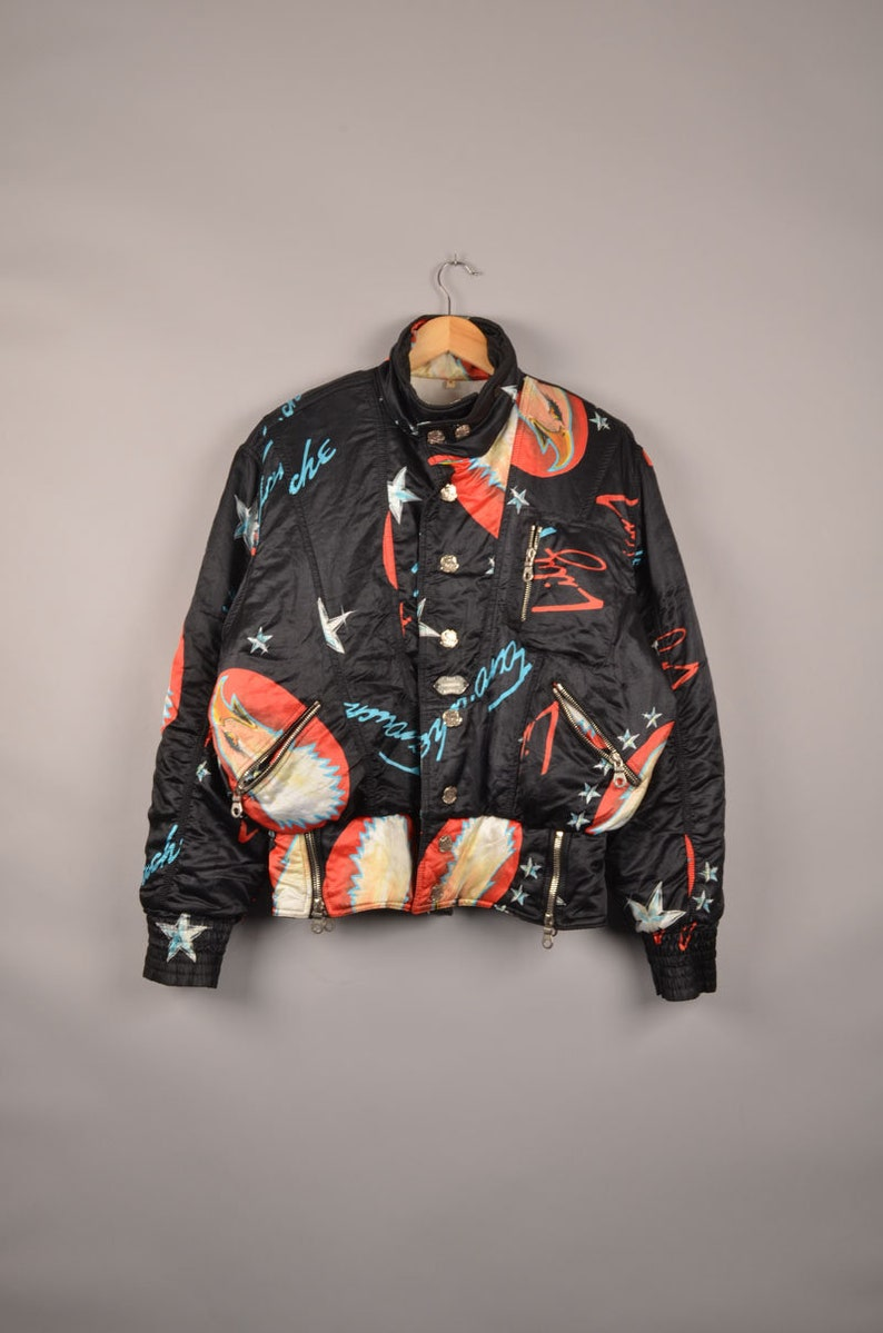 9d7a8d0a9587 Vintage lily farouche ski power bomber jacket biker jacket