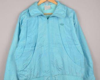 adidas tracksuit, vintage adidas, adidas windbreaker, adidas vintage, windbreaker, track jacket, aqua blue jacket