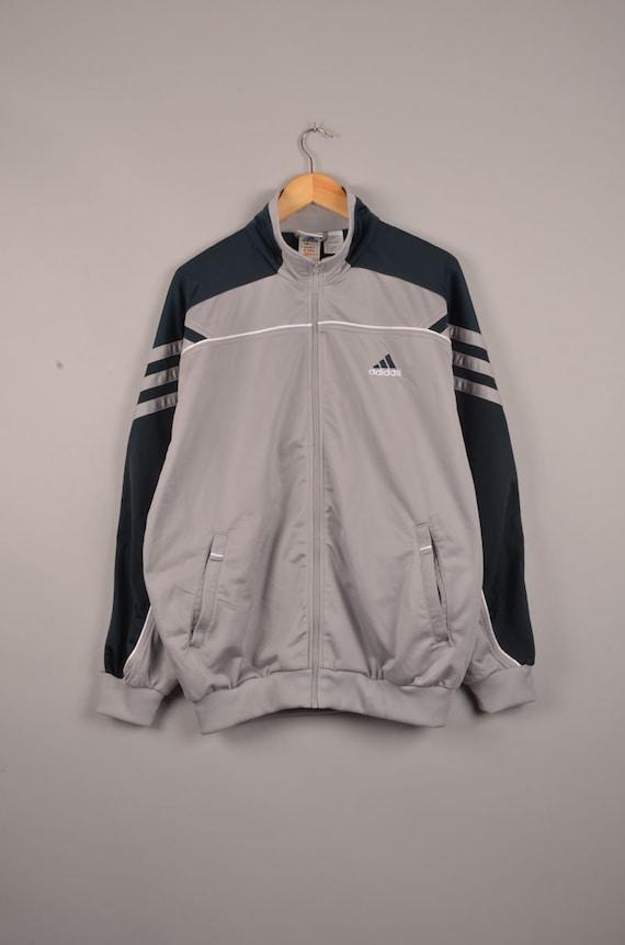 tuta sportiva ADIDAS, adidas vintage, giacca a vento adidas pioggia cappotto adidas, adidas vintage, vintage giacca a vento, vintage shell jacket,