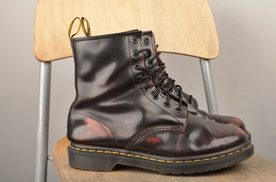 dr martens,doc, Martens boots,leather boots, burgu