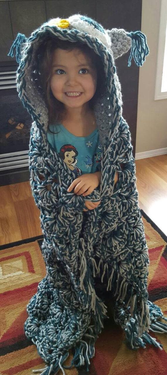 Mit Kapuze häkeln Eule Decke Muster von MJ aus der | Etsy