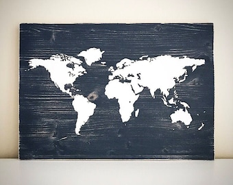 Wood United States Map.Custom Map Sign 5 5x5 5 Wood United States Map Sign State Etsy