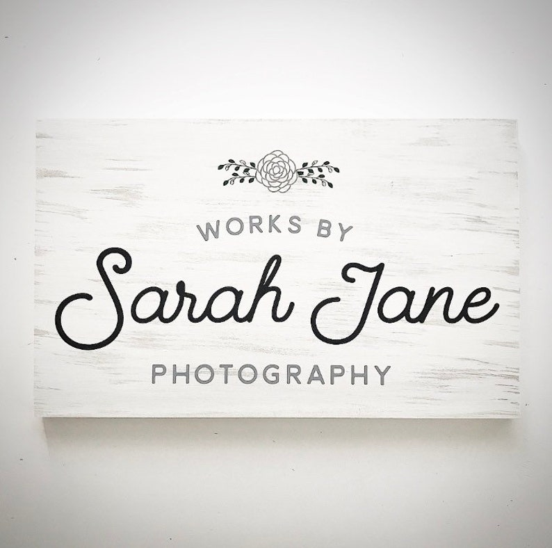 7560b2322a313 Custom Wood Small Business Logo Sign - 16x24 Wooden Business Sign -  Customizable Company Logo Plank - Social Media Sign - Etsy Business Sign