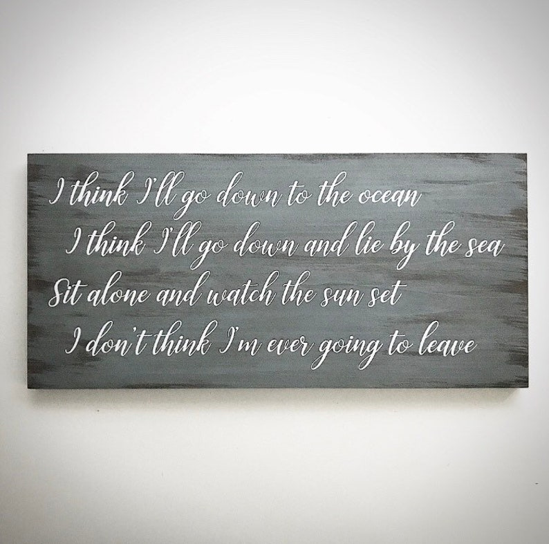 Handcrafted 9 5x20 Song Lyrics Sign - Wedding First Dance Song Lyrics Plank  - Song Lyric Sign - Wedding Anniversary Sign - Custom Wood Sign