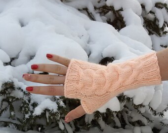 Handmade mittens, muffs, fingerless, arm warmers, hand knit gloves, accessories, winter fashion, gift for her, women gifts, valentines gift