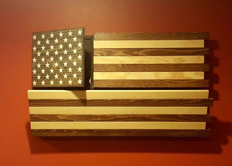 Rustic American Flag Gun Concealment Cabinet DUAL LOCKING | Etsy