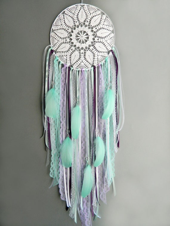 Large white lavender and mint lace dreamcatcher Boho wall hanging dream on romantic bedroom ideas, lavender bathroom ideas, lavender kitchen ideas, lavender bedroom accessories, lavender paint bedroom, lavender bedroom designs, lavender bedroom walls, lavender teen bedroom, lavender bedroom bedding, lavender colored bedroom ideas, lavender bedroom curtains, lavender master bedroom, lavender bedroom ideas for women, green bedroom ideas, lavender and white bedroom, lavender bedroom decor, lavender bedroom southern, purple bedroom ideas,