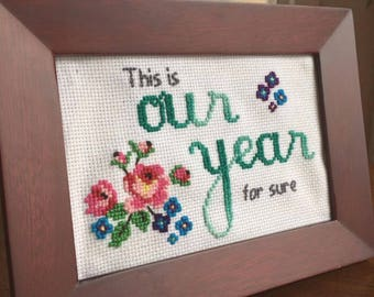 100 Resolutions Cross Stitch