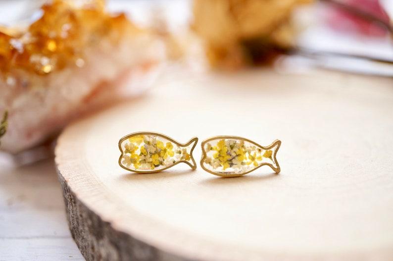 Fish Resin Stud Earrings