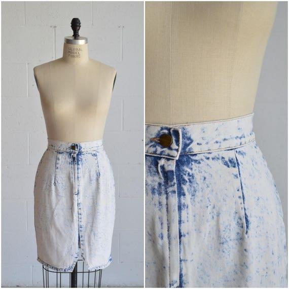 1980s denim skirt · vintage high waisted jean skir
