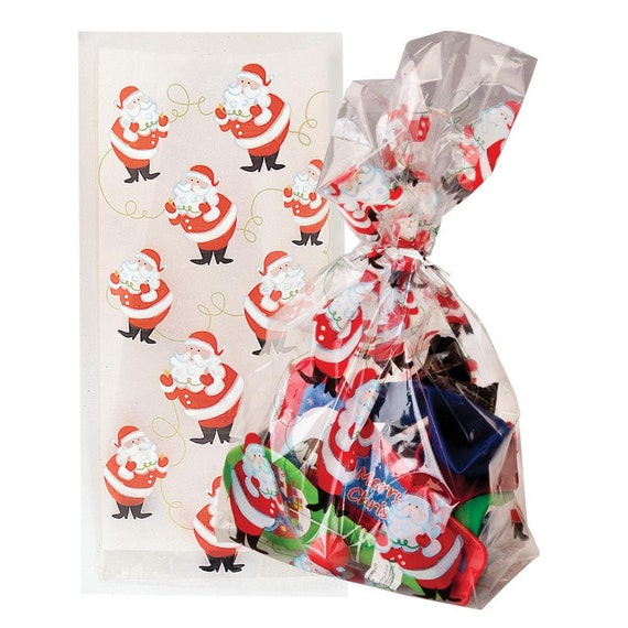 Christmas Cellophane Bags.Pack Of 20 Twinkle Santa Christmas Cellophane Bags Perfect For Homemade Christmas Gifts