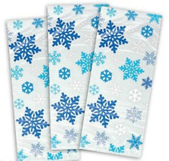 Christmas Cellophane Bags.Pack Of 20 Blue Snowflakes Christmas Cellophane Bags Perfect For Homemade Christmas Gifts