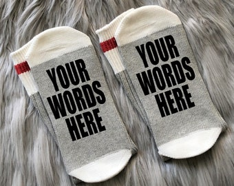 the bachelor is on- Socks  socks with sayings unisex socks, socks with words comfy socks Keep calm custom socks