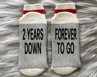 Cotton Anniversary Gift Personalised Socks Christmas gift Secret Santa Birthday Wedding Present Stocking Filler Stocking Stuffer