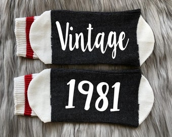 30th Birthday Printed Men/'s and Ladies Novelty GIFT 40th Birthday Limited Edition 2001 20th Birthday Socks All years available