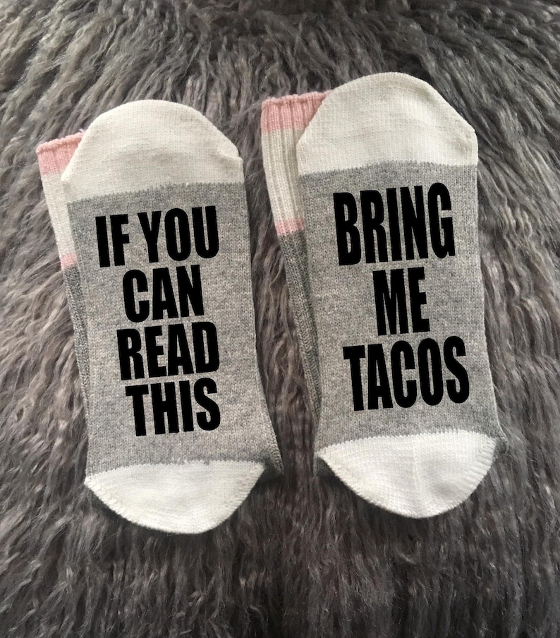 Taco Socks-Bring Me Tacos-Taco Gifts-Taco Tuesday-Let's image 0