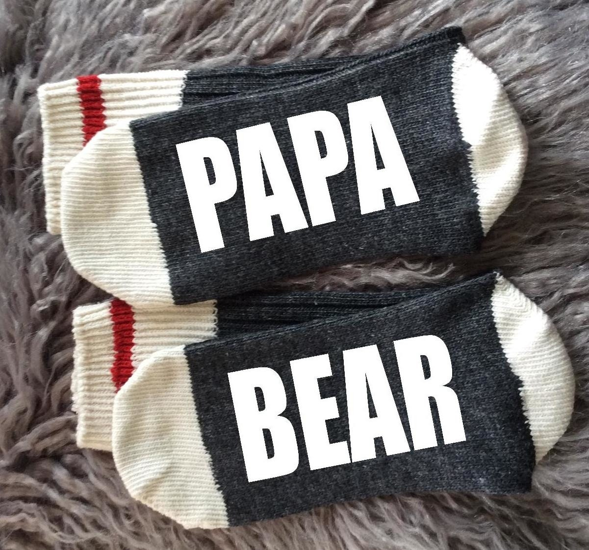 Papa-papa papa-chaussettes ours-cadeaux cadeaux-papa Bod-papa vie-Papa ours-cadeaux papa-chaussettes pour papa-cadeaux pour lui-nouveau papa cadeau de grossesse révèlent-Papa Noël-cadeau de Noël 97de6b