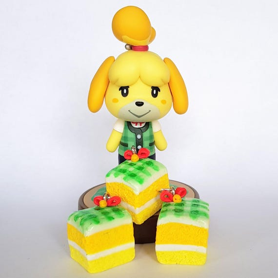 Wondrous Cake Charms Isabelle Inspired Animal Crossing New Leaf Etsy Personalised Birthday Cards Veneteletsinfo