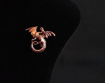 Lapel Brooch Medieval Dragon