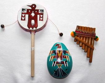 Andes Instruments: Ocarina, Drum, Rondador