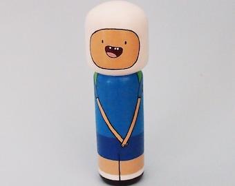 Kokeshi Peg Doll Finn Adventure Time