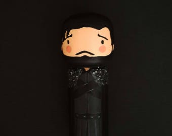 Kokeshi Peg doll Jon Snow The game of thrones wooden doll