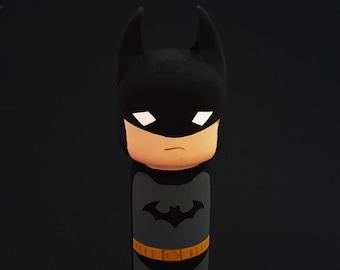 Kokeshi Peg doll Batman wooden doll superhero doll DC