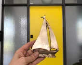 Vintage Brass Sailboat Door knocker hardware