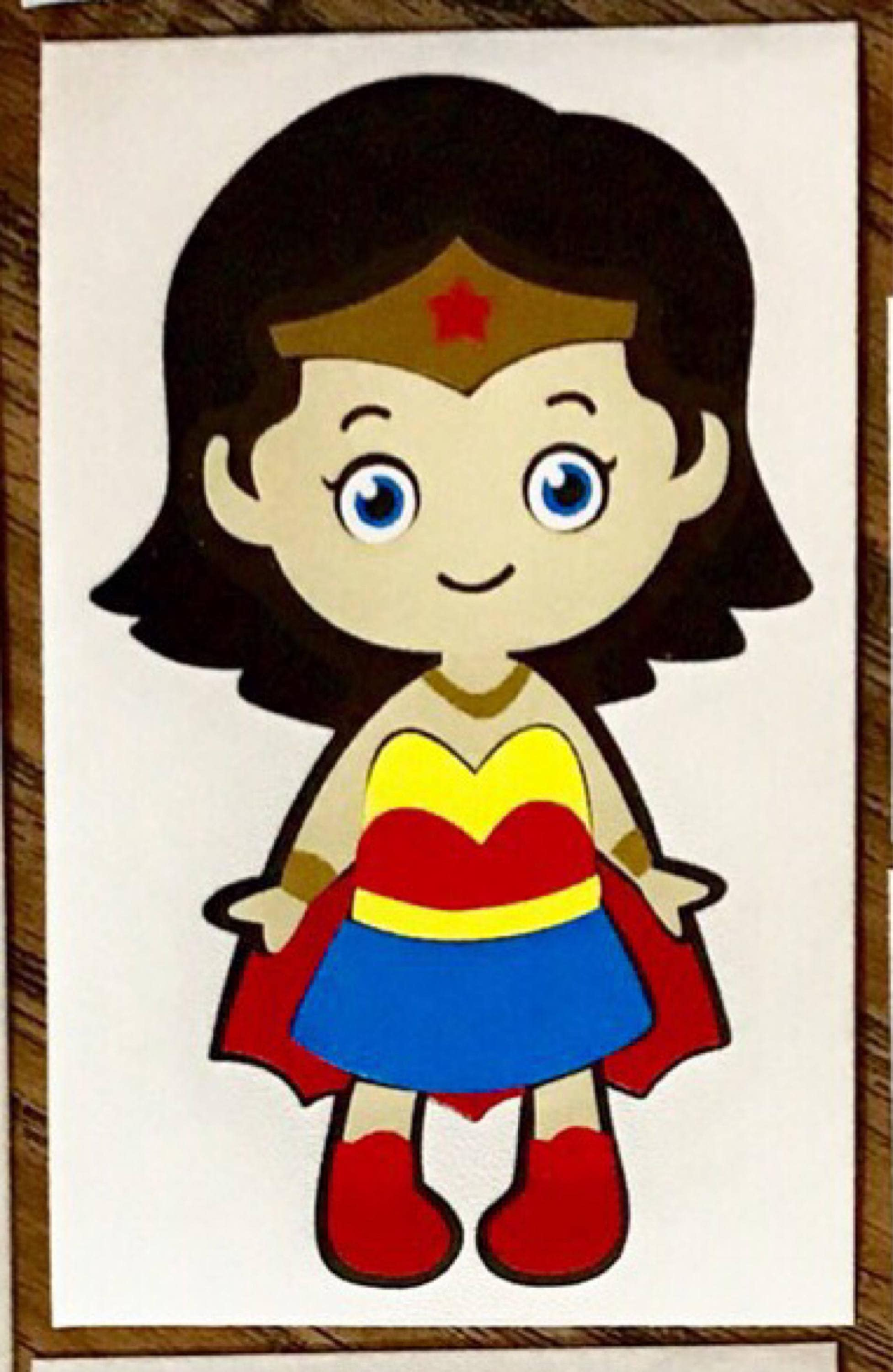It's just a photo of Persnickety Cute Wonder Woman