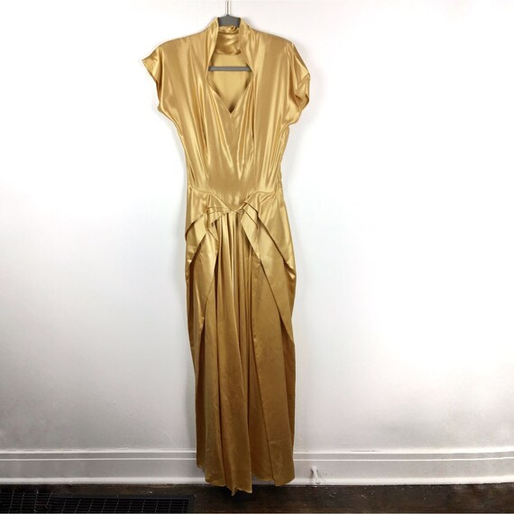 Vintage gold cocktail dress Small