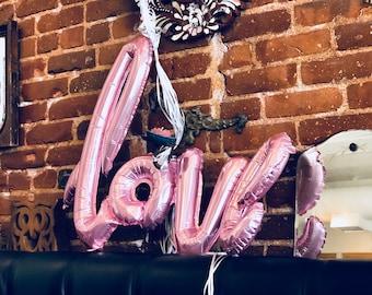 """Feuille d'amour de script ballons 40""""- douche nuptiale de ballons - amour ballons - décor de partie de Bachelorette - partie de Bachelorette idées - Or Rose"""