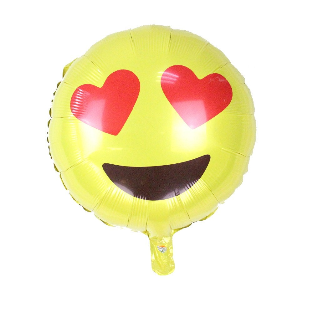 Emoji Love Heart Eyes Balloons 18 Mylar Balloon