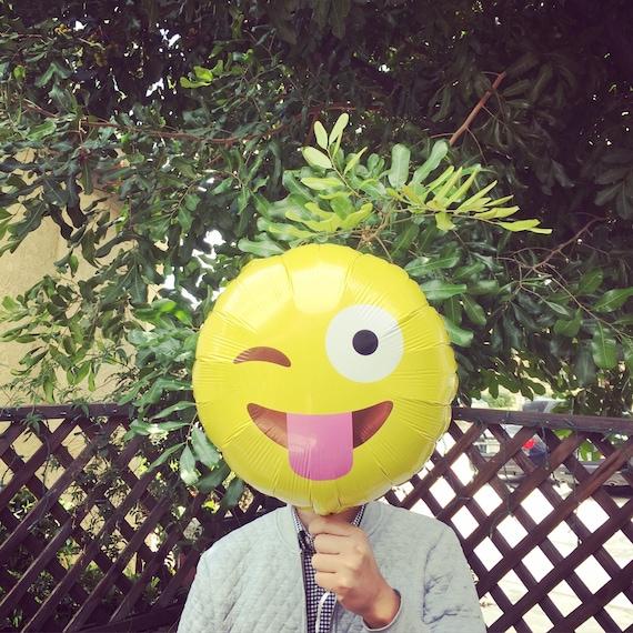 Emoji Wink Balloons 18 Mylar Balloon Smile