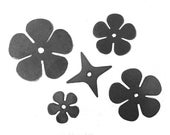 Blacksmith Rose Blanks 20 gauge Metal Roses, Forging Supplies, Blacksmithing Roses, Hand Forged Roses, Metal Rose Blanks, Made in USA