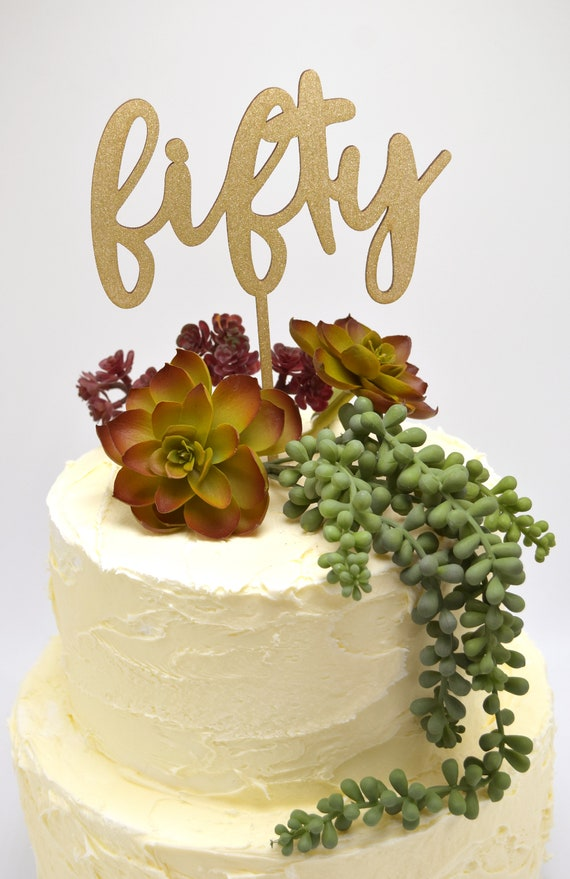 Outstanding Fifty And Fabulous Birthday Cake Topper Party Decor Rustic Etsy Funny Birthday Cards Online Alyptdamsfinfo