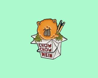 Chow Chow Mein Enamel Pin