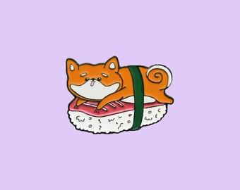 Shiba Sushi Enamel Pin