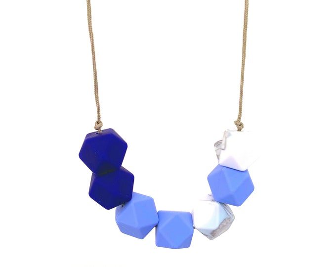 Indigo dreams  necklace feeding BPA free silicone  gift