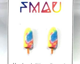 Ice cream stud earrings handmade hypoallergenic  gift ice cream australian