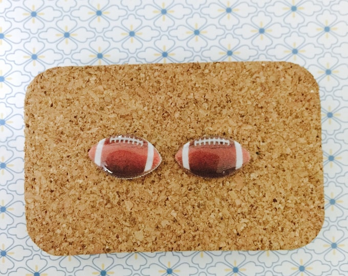American football handmade hypoallergenic earrings fan girl gift idea