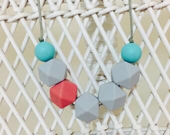 Trendy~  necklace 100% silicone BPA free  gift nursing safe