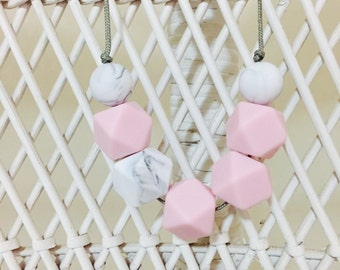 Cotton Candy~  necklace 100% silicone BPA free  gift nursing safe