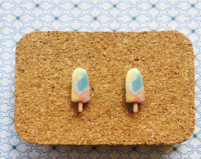 Ice cream Popsicle handmade hypoallergenic stud earrings ice cream food australian girl gift  free shipping international