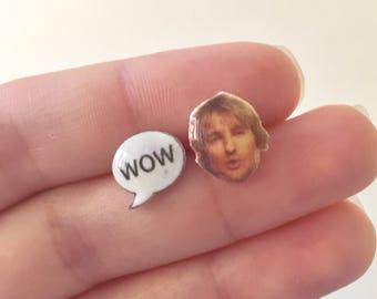Owen Wilson WOW handmade hypoallergenic stud earrings  girl gift