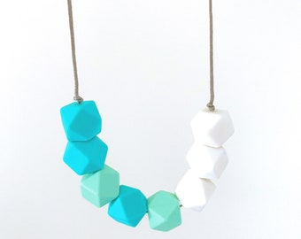 Shark Bay  necklace   feeding silicone beads BPA free