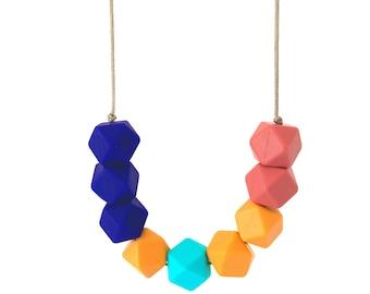 Sunset Coast bead  silicone necklace BPA free  feeding