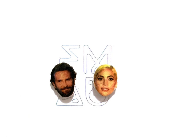 A Star is Born handmade hypoallergenic stid earrings lady gaga bradley cooper free shipping gift